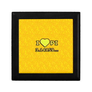 I LOVE PI - YELLOW MODEL SMALL SQUARE GIFT BOX