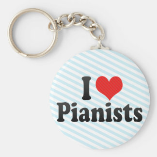 I Love Pianists Keychains