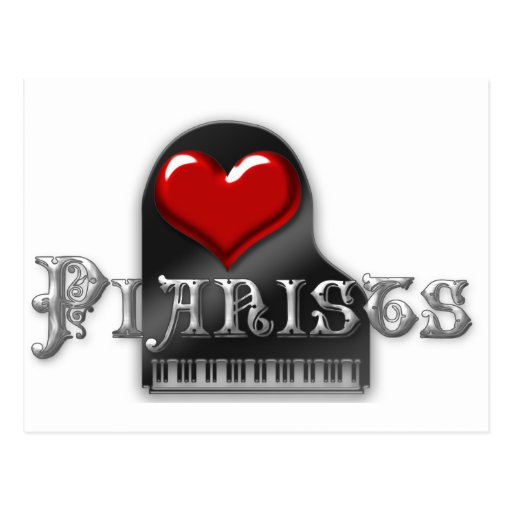 I Love Pianists Post Cards