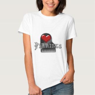I Love Pianists Shirts