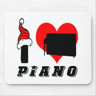I Love Piano Design Mousepad