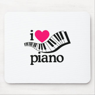 I Love Piano/Keyboard Mouse Pad