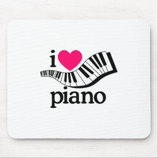 I Love Piano/Keyboard Mouse Pad