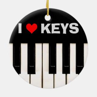 I love Piano Keys Ornaments
