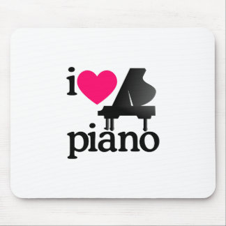 I Love Piano Mouse Pad