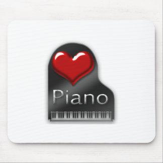 I Love Piano Mousepads