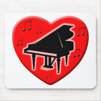 I Love Piano Mousepad