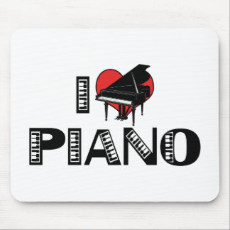 I Love Piano Mouse Pad
