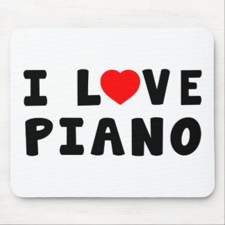 I Love Piano Mouse Pads