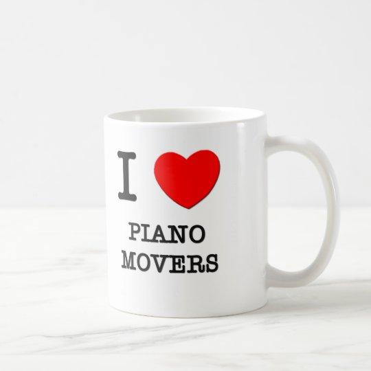 I Love Piano Movers Coffee Mug