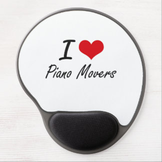I Love Piano Movers Gel Mouse Pad