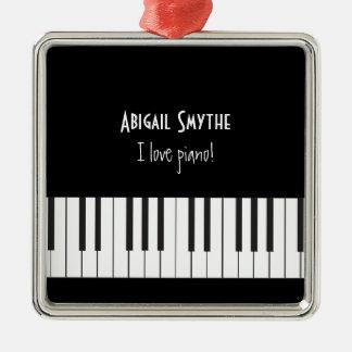 I love Piano Ornament