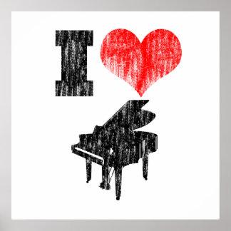 I Love Piano Poster