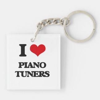 I love Piano Tuners Square Acrylic Keychains