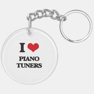 I Love Piano Tuners Keychain