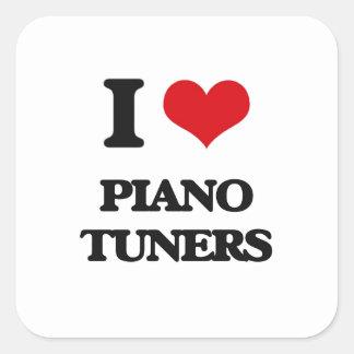 I love Piano Tuners Square Sticker