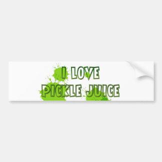 I love pickle juice bumber sticker bumper sticker