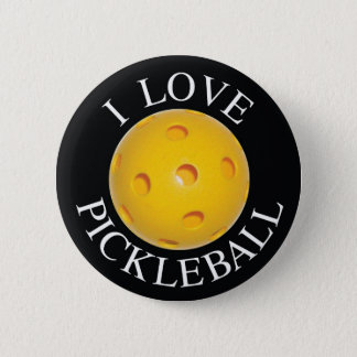 I Love Pickleball Button / Badge