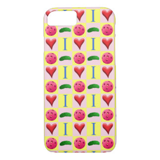 I Love Pickleball i Phone Case