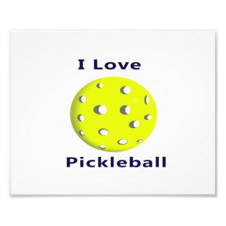I love pickleball w yellow ball png photographic print