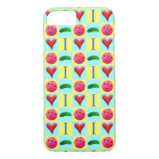 I Love Pickleball with Fuchsia i Phone Case