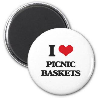I Love Picnic Baskets Magnets