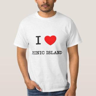 I Love Picnic Island Florida T-Shirt