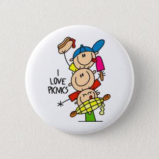 I Love Picnics 6 Cm Round Badge