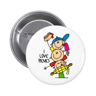 I Love Picnics 6 Cm Round Badge