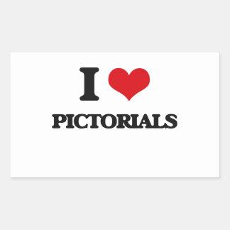 I Love Pictorials Rectangular Sticker