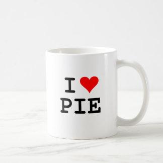 I love pie (black lettering) basic white mug