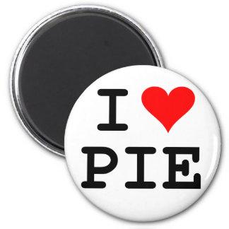 I love pie (black lettering) 6 cm round magnet