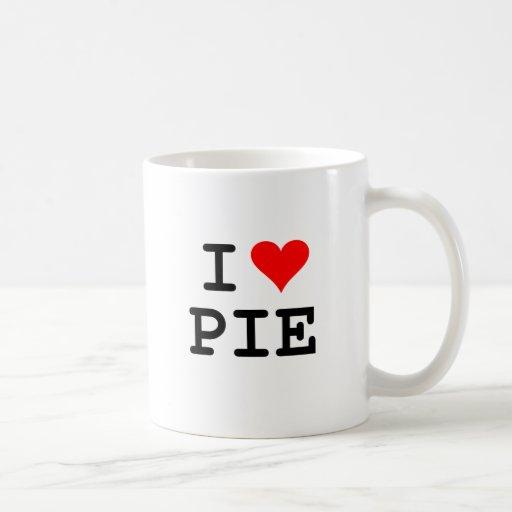 I love pie (black lettering) coffee mug