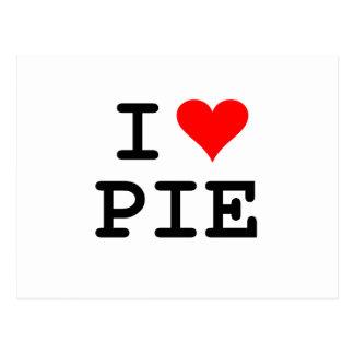 I love pie (black lettering) postcard