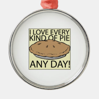 I Love Pie Christmas Ornament