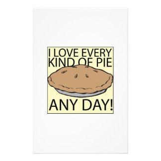 I Love Pie Stationery Paper
