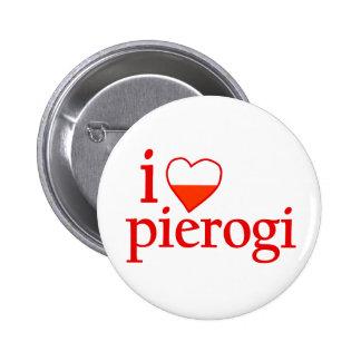 I Love Pierogi Pinback Buttons