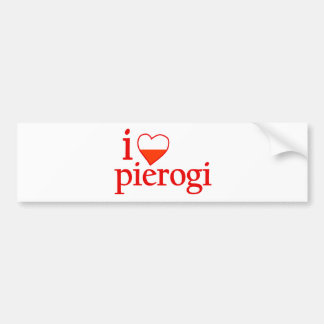 I Love Pierogi Bumper Sticker