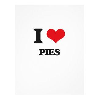 I Love Pies Flyer Design