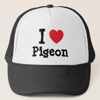 I love Pigeon heart T-Shirt Trucker Hat