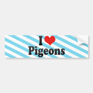 I Love Pigeons Bumper Sticker