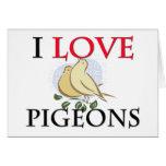 I Love Pigeons Cards