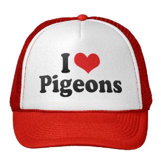 I Love Pigeons Hats