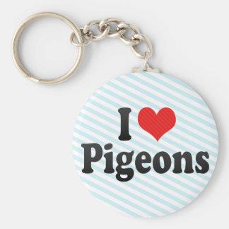 I Love Pigeons Key Ring