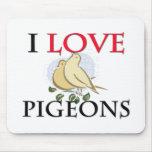 I Love Pigeons Mouse Pad