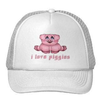 I Love Piggies Cap