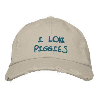 I Love Piggies Hat Embroidered Hat