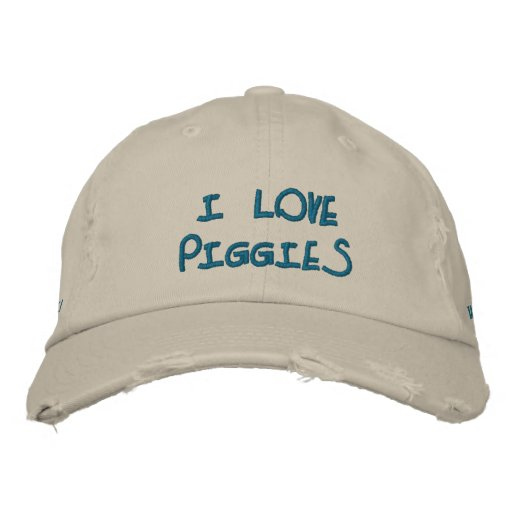 I Love Piggies Hat Embroidered Hat