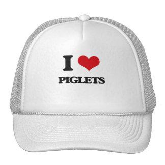 I Love Piglets Hats