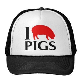 I Love Pigs Cap